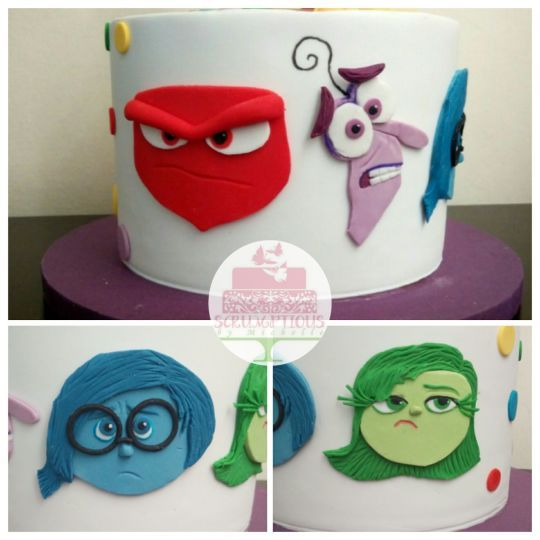 Inside Out cake with Joy topper