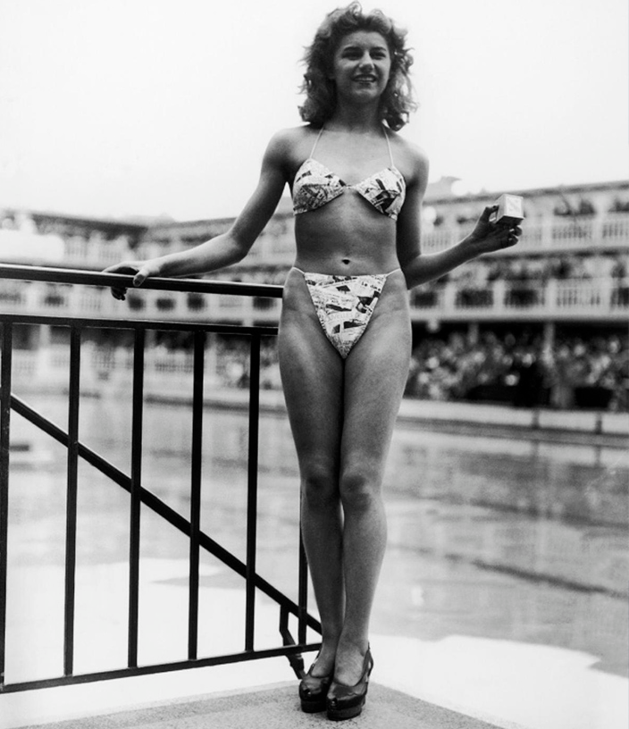 The first appearance of the bikini with the french dancer Michele Bernardini, the …