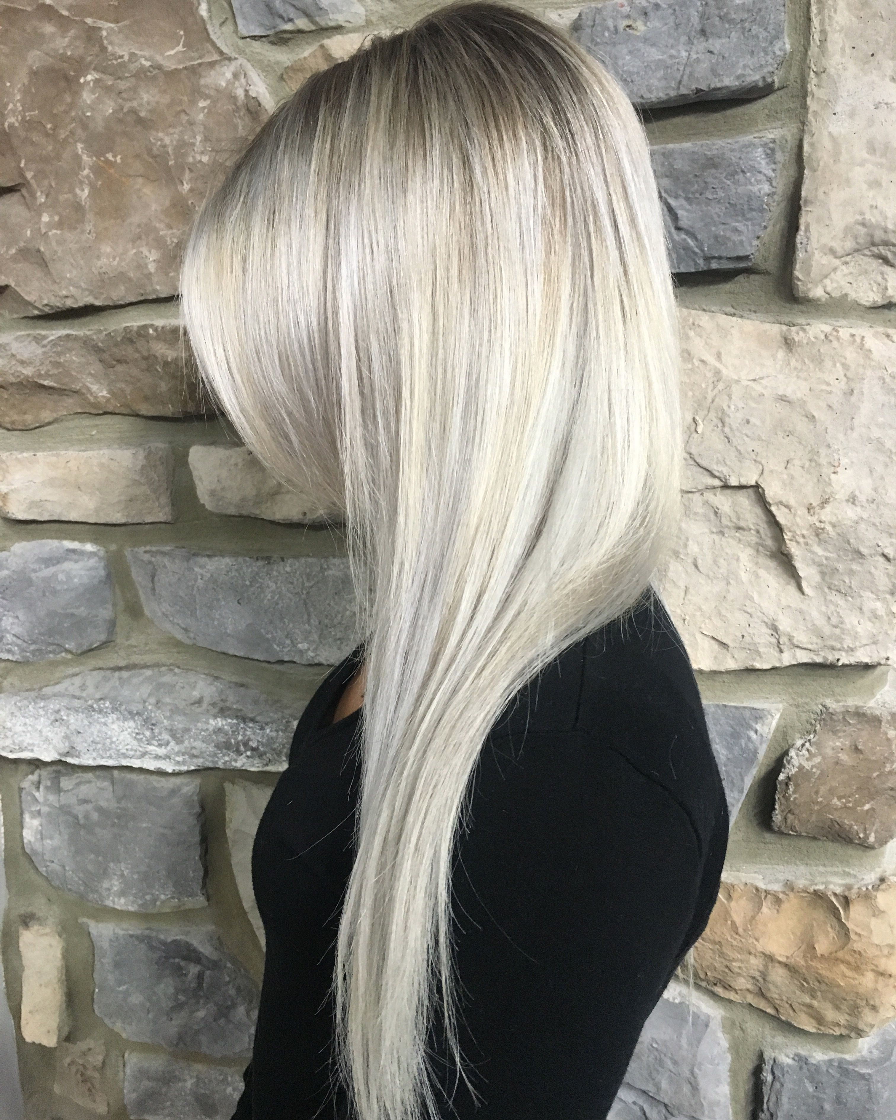 Frosted White Blonde Hair Color With Images White Blonde Hair