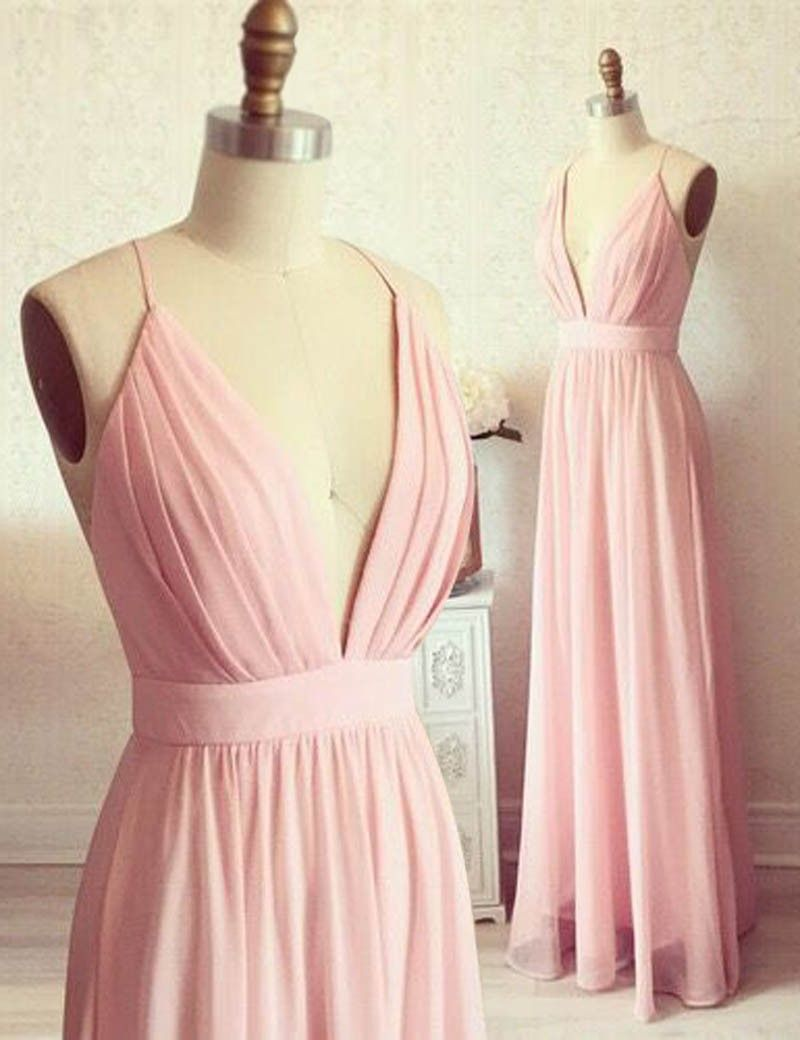 Simple Prom Dresses,Spaghetti Straps Prom Dress, Backless Formal ...