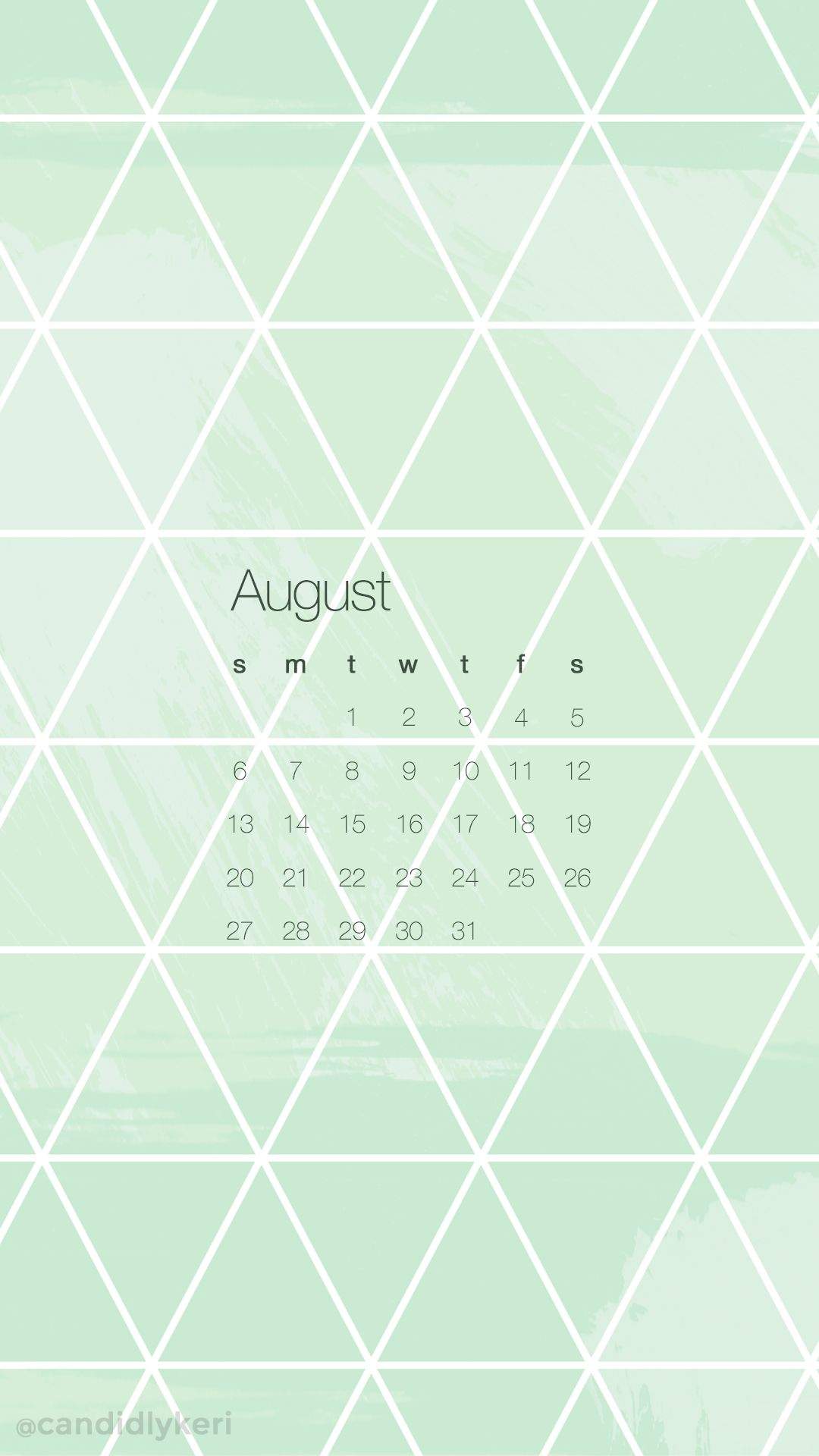 Awesome Green Shape Pattern Fun Background August Calendar 2017 Wallpaper You Can  Download On The Blog!