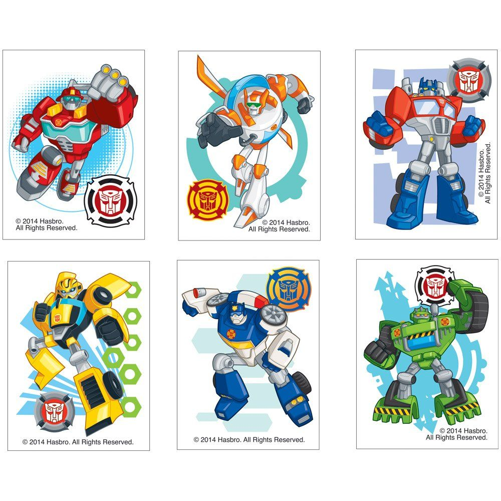 Amazon.com: Transformers Rescue Bots Temporary Tattoos   Birthday And Theme  Party Supplies   144 Per Pack: Toys U0026 Games