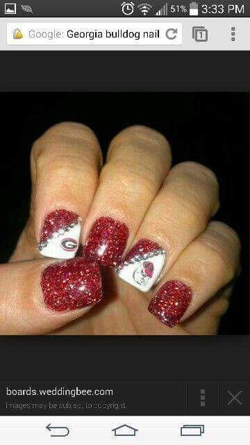 Georgia BullDawgs nails