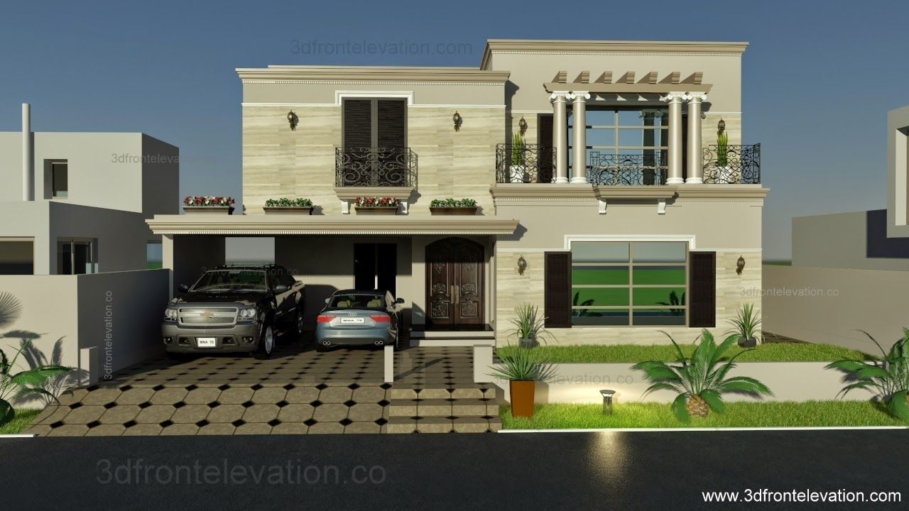 Kanal Spanish House Design PLan DHA LahorePakistan House - House design elevation photo
