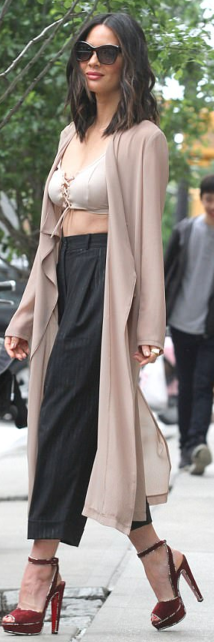 Olivia Munn wearing Celine, Wardrobe and Christian Louboutin