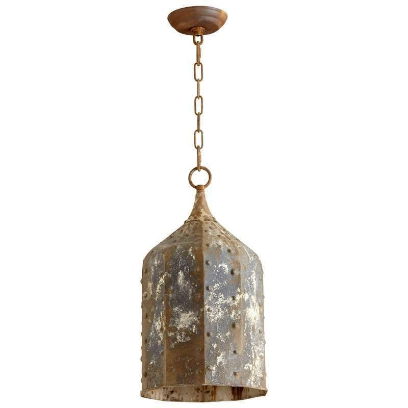 Cyan design 06259 large collier 1 light pendant in rustic