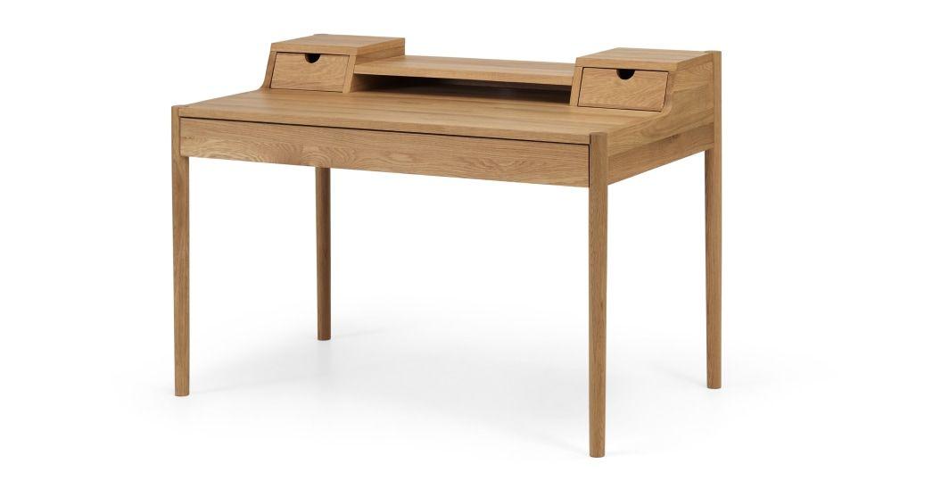 Leonie Wide Desk Oak In 2020 Schreibtischideen Schreibtisch Eiche