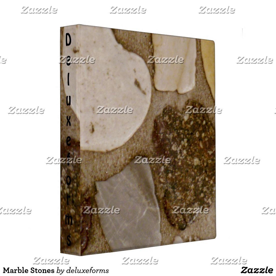 Marble Stones 3 Ring Binder