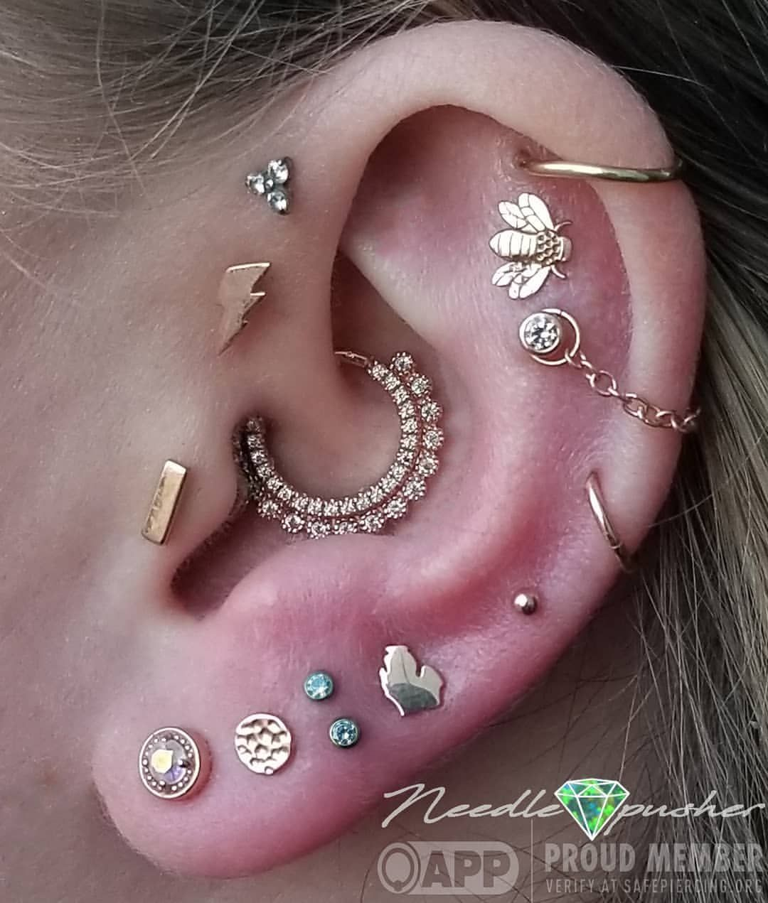 We Squeezed A Little More Bling Into Devon S Ear Stacked Two 2mm