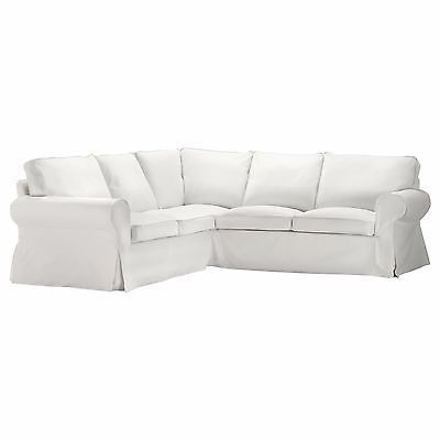 Ikea Ektorp Cover 2 2 Sofa Corner Slipcover Blekinge White Sectional 500 475 90 White Sectional Sofa White Corner Sofas Corner Sofa Covers