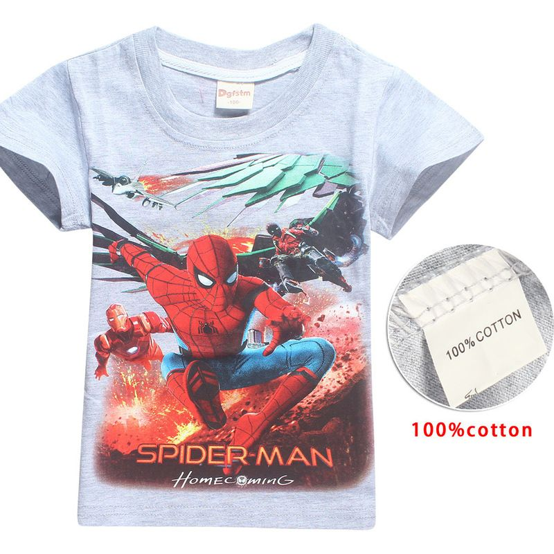 Roblox Spider Man Homecoming Shirt - Niño De Verano Los Niños Ropa T Shirt 2018 Marca Spiderman