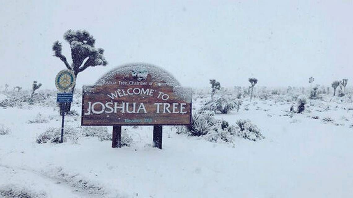 Storm Brings Snow To Low Levels In Southern California Winter Storm Snow Images San Bernardino County