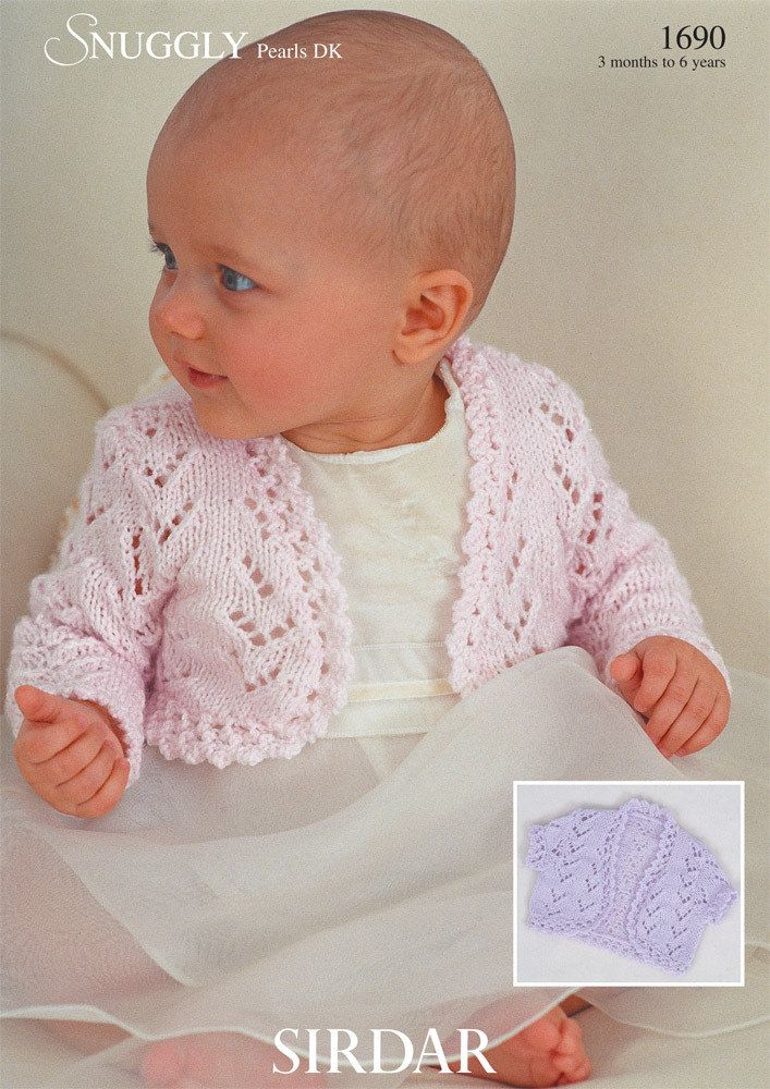 Boleros In Sirdar Snuggly Pearls Dk 1690 Baby Knits Pinterest