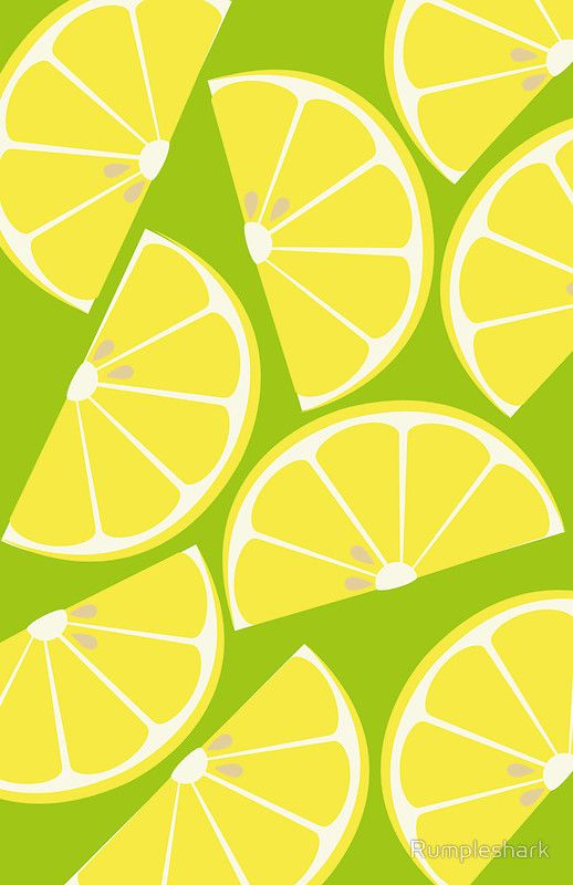 Citrus Lemon Illustrations Lemon Art Pattern Art