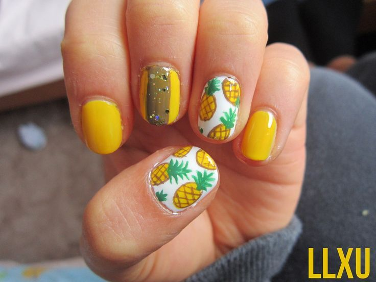 Do you love styling your nails with the amazing pineapple nail art designs?  Well if yes then get ready because in this post we will be talking about  the ... - Pineapple Nails. Discovered By JustRandomThings. Beauty