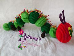 Amigurumi Caterpillar : Hungry caterpillar free crochet pattern by britteny's boutique