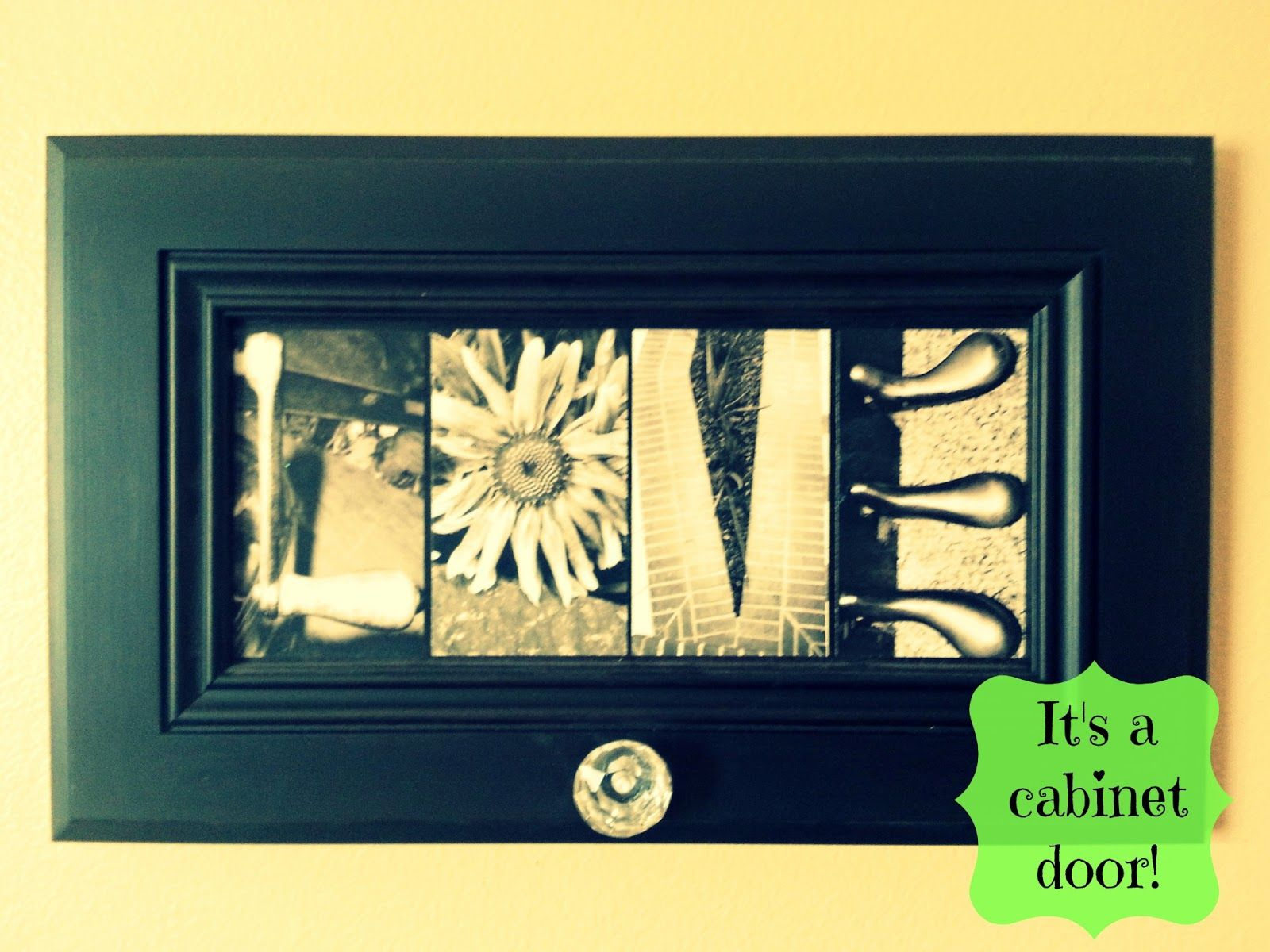Cabinet door up-scaled to beautiful wall decor! YOU COULD DEFINITELY ...
