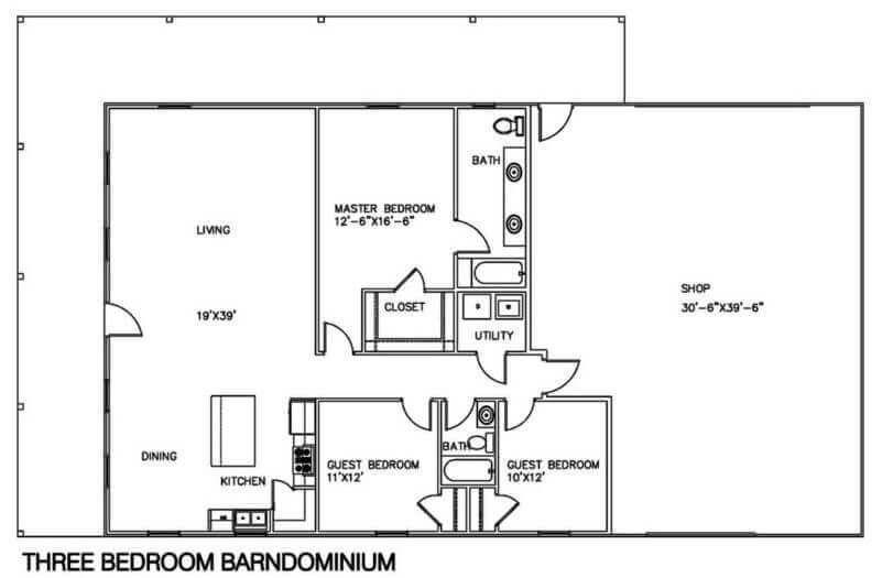 Barndominium Floor Plans 2 A Barndominium With A Shop Barndominium Floor Plans Barn House Plans Shop House Plans