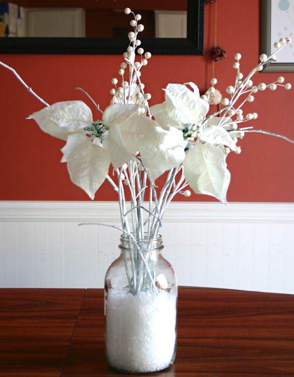 Snowflake center pieces handmade holidays winter