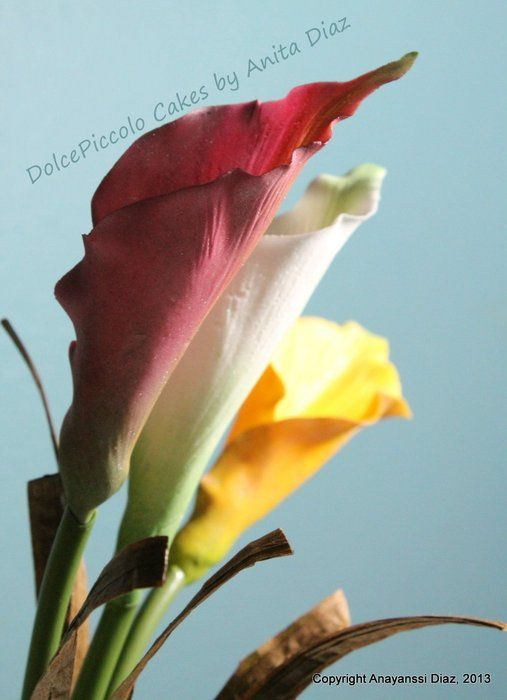 Calla Lilies Sugar Flowers Tutorial Calla Lily Sugar Flowers