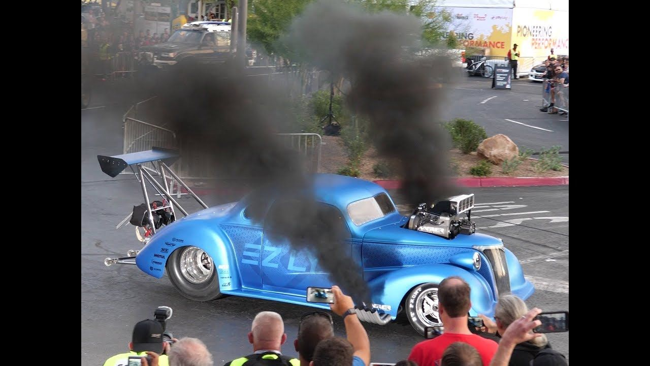 3000HP Supercharged Diesel 1937 Chevy Coupe Pro Mod Drag