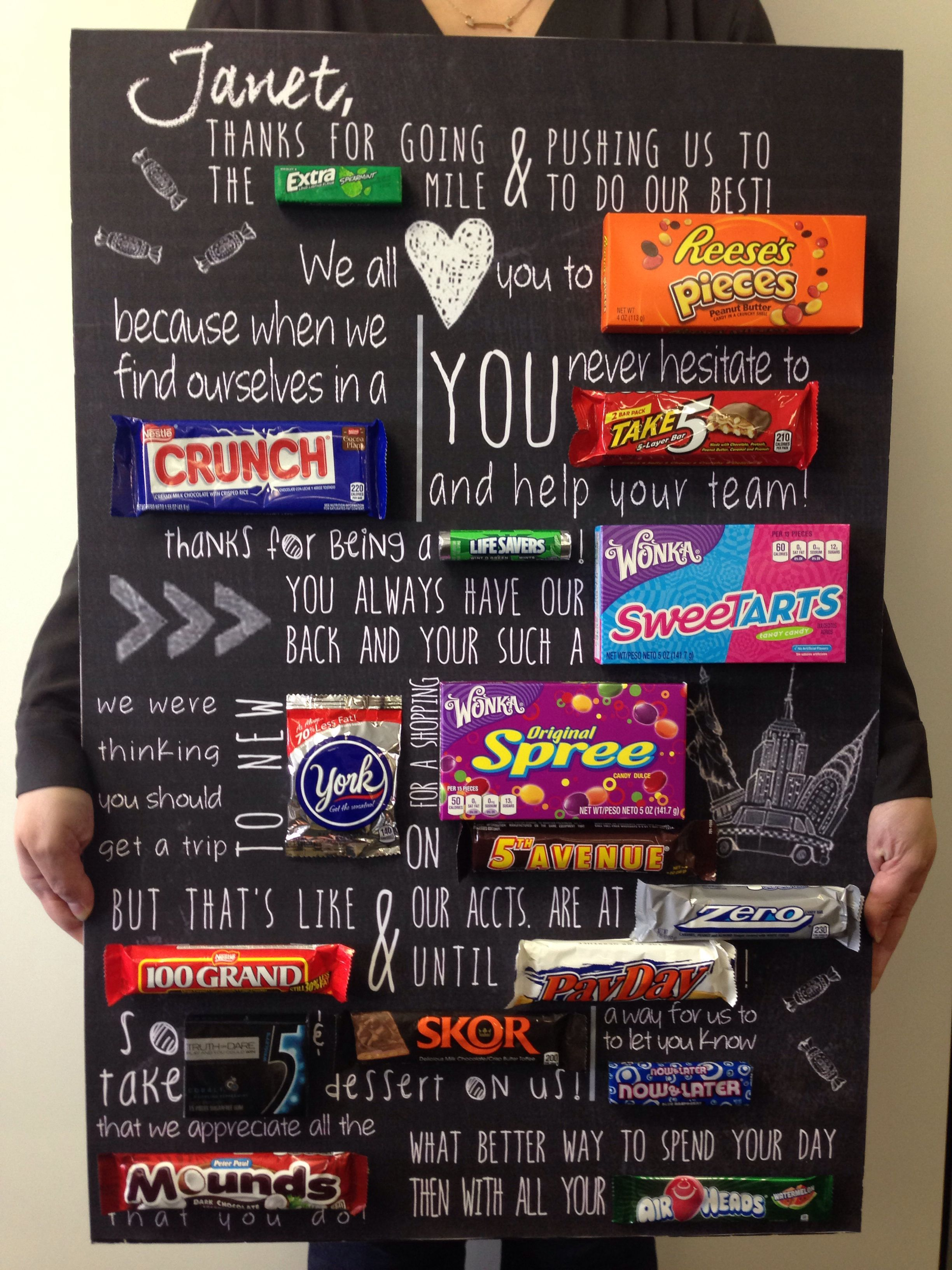 Boss's Day Candy Poem! bossesdaygiftideasoffices in 2020