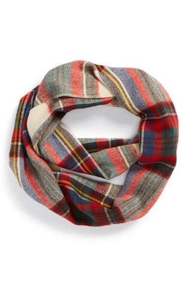 Perfect Fall plaid flannel scarf, only $20. Love that it's infinity, too!