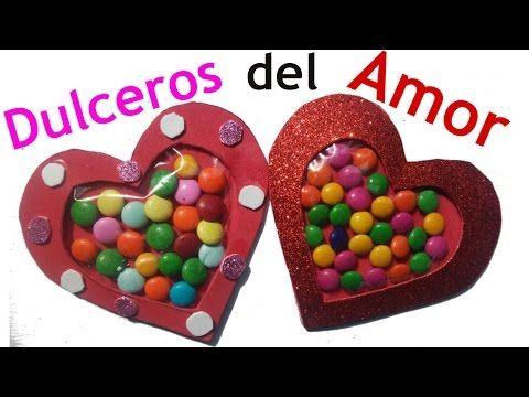 b0486fe1e81d Dulcero de Corazón Para San Valentín - Manualidades de Lina ...