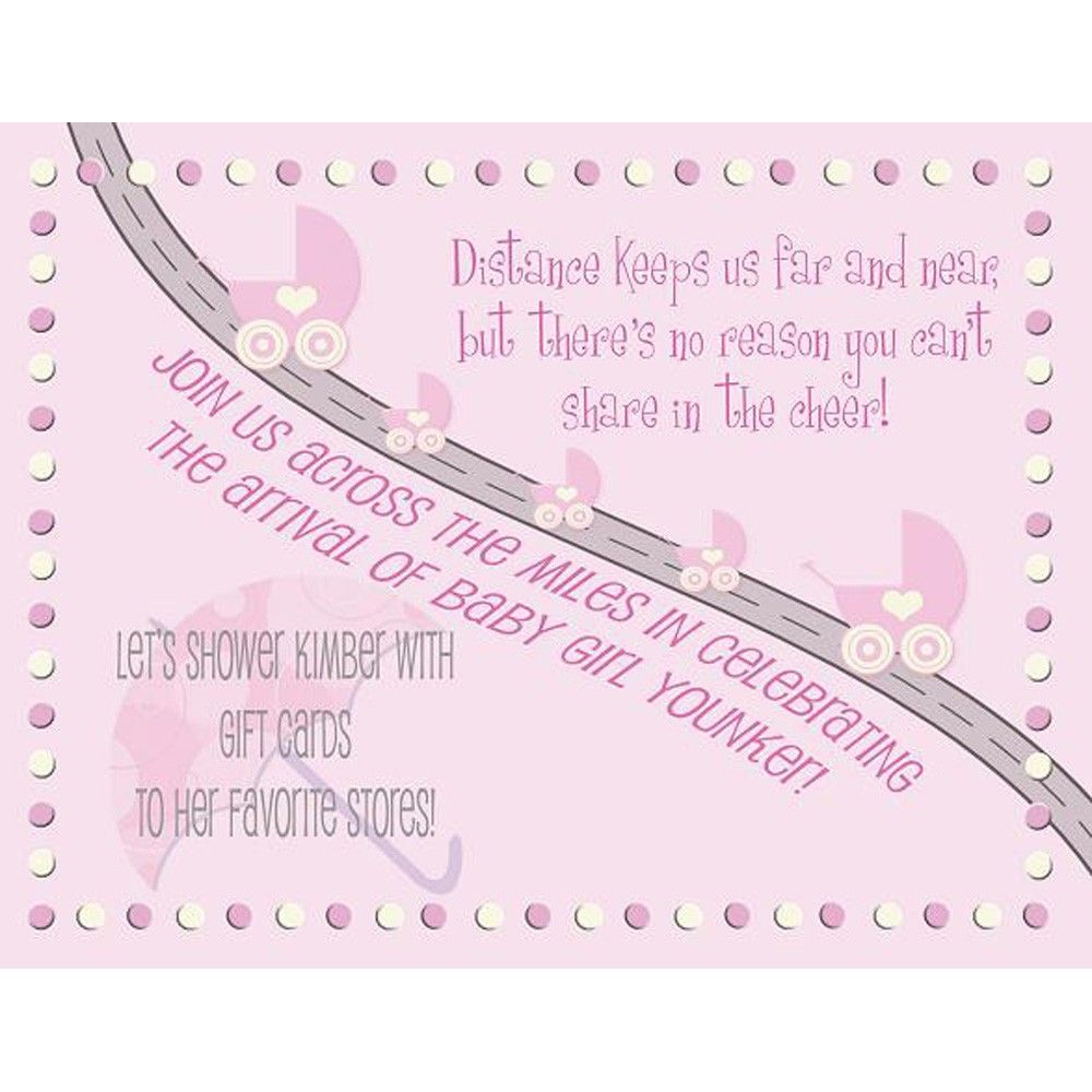 Baby Shower Invitation - Long Distance boy or girl. $40.00, via ...