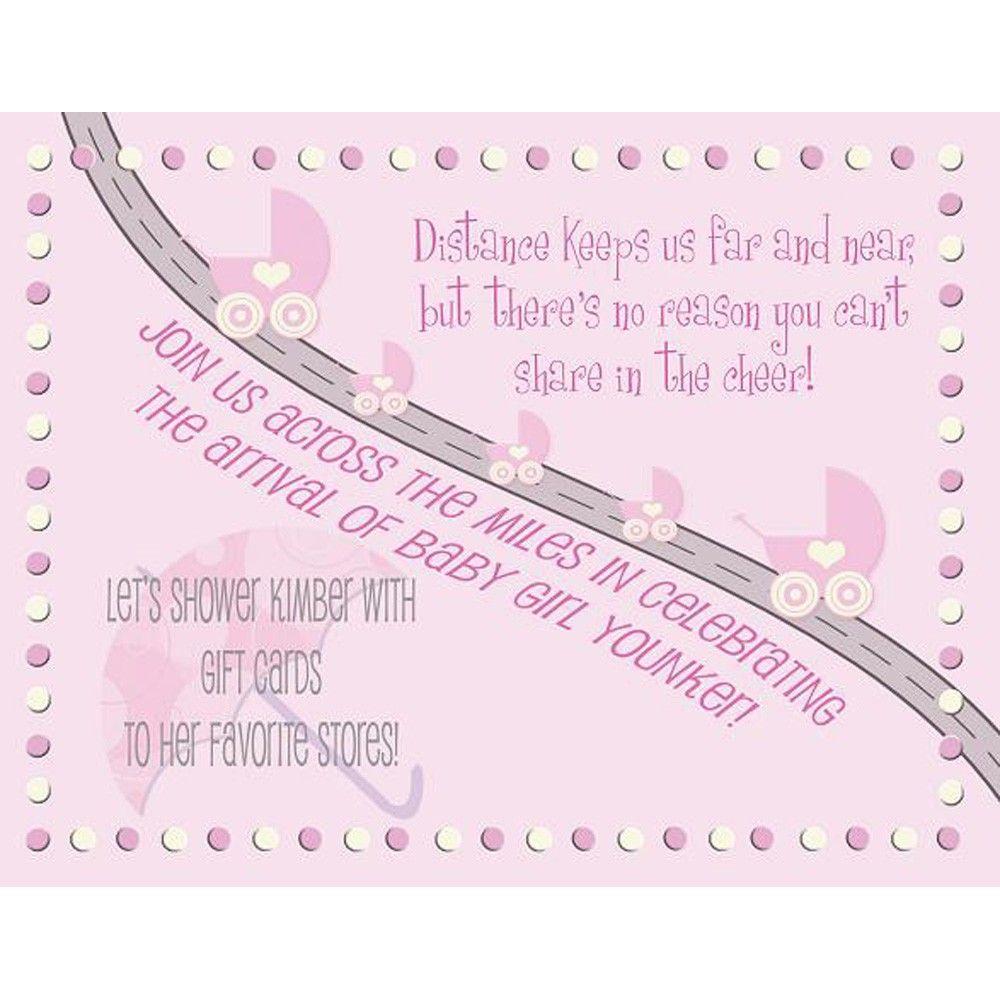 Baby Shower Invitation - Long Distance boy or girl. $40.00, via Etsy ...