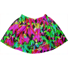 Colorful Abstract Leaves Kids Full Skirt ,OMG! Checkout this design on  @printalloverme ,Colorful, Abstract, leaves, pattern, multicolor, nature, funny, cool, abstract, clothing, pattern, patterns, painting, art, unique, beautiful, designs, design, fashion, Kids,children,kids fashion,Kids Full Skirt