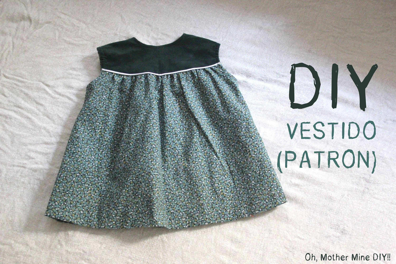 Diy Como Hacer Vestido De Niña Patrones Incluidos Talla 6 Meses 6 Años Vestidos Para Niñas Ropa Para Niñas Patron Vestido Niña