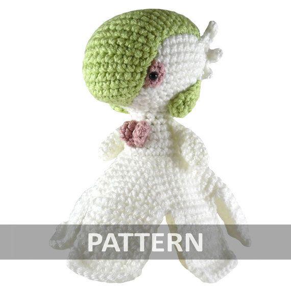 PATTERN Mega Gardevoir Pokemon Amigurumi Crochet Plush PDF