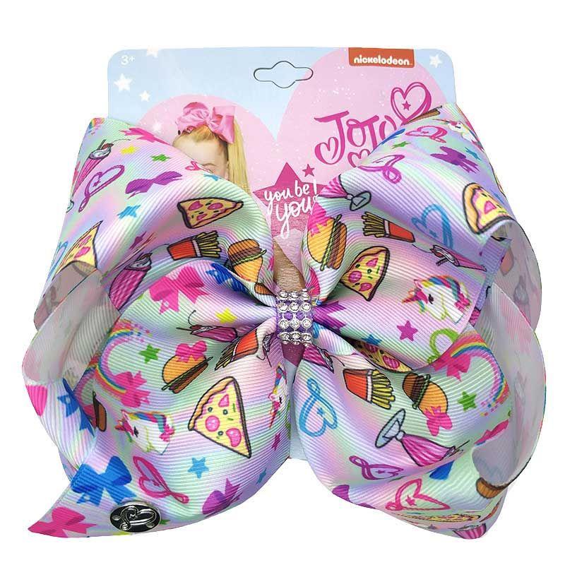 "JOJO Siwa 5/"" Large Girl Hair Bow Clips Birthday Unicorn Party Meraid Dance Kids"