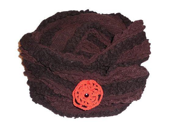 Brown Infinity Scarf Chunky Knit Cowl Cozy Warm by KnitSew4U, $35.00