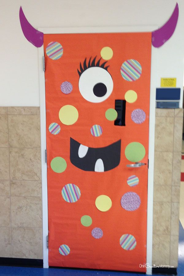 Monster Classroom Decor : Cool classroom door decorations for halloween