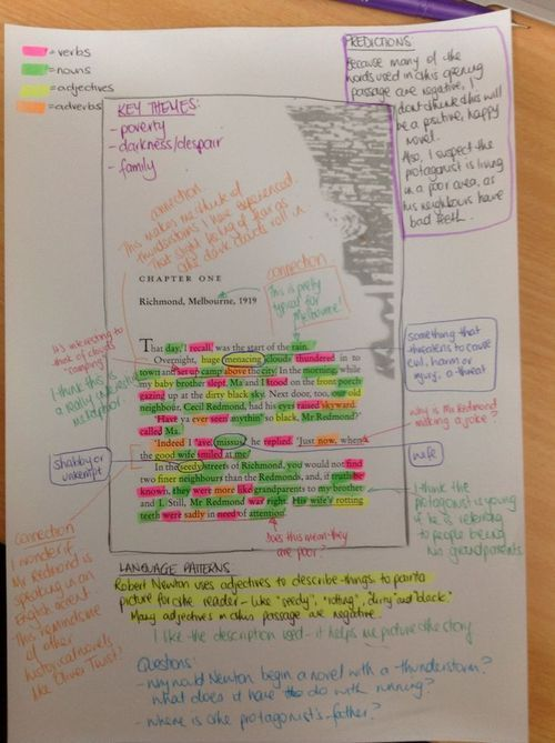 A great example of close reading to show your students  image from Oscar Learn  Oscar Teach