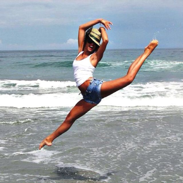 dance and the beach. beautiful.