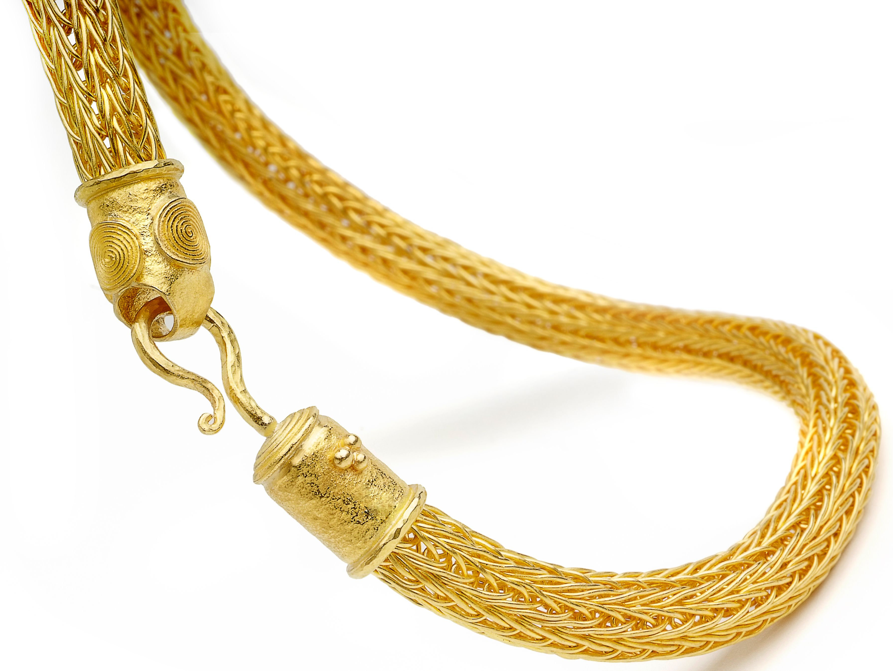 22k hand knitted gold chain by Osnat Weingarten | Inspired by ...