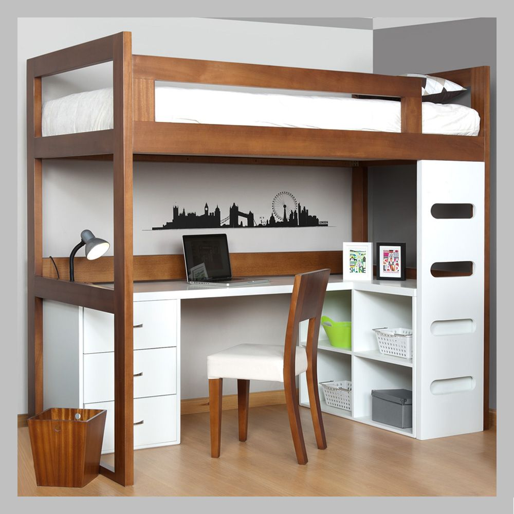 Camarote con escritorio para ni os cam 03 camas for Recamaras con escritorio