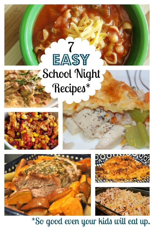 Easy school recipes