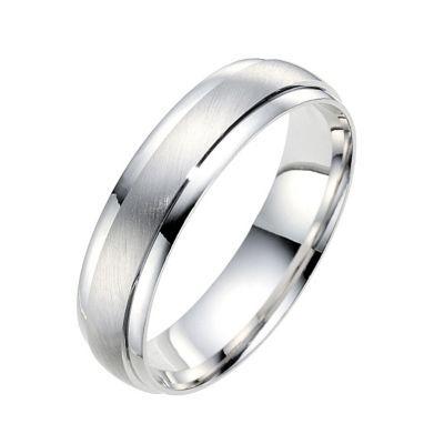 18ct white gold wedding ring - Ernest Jones