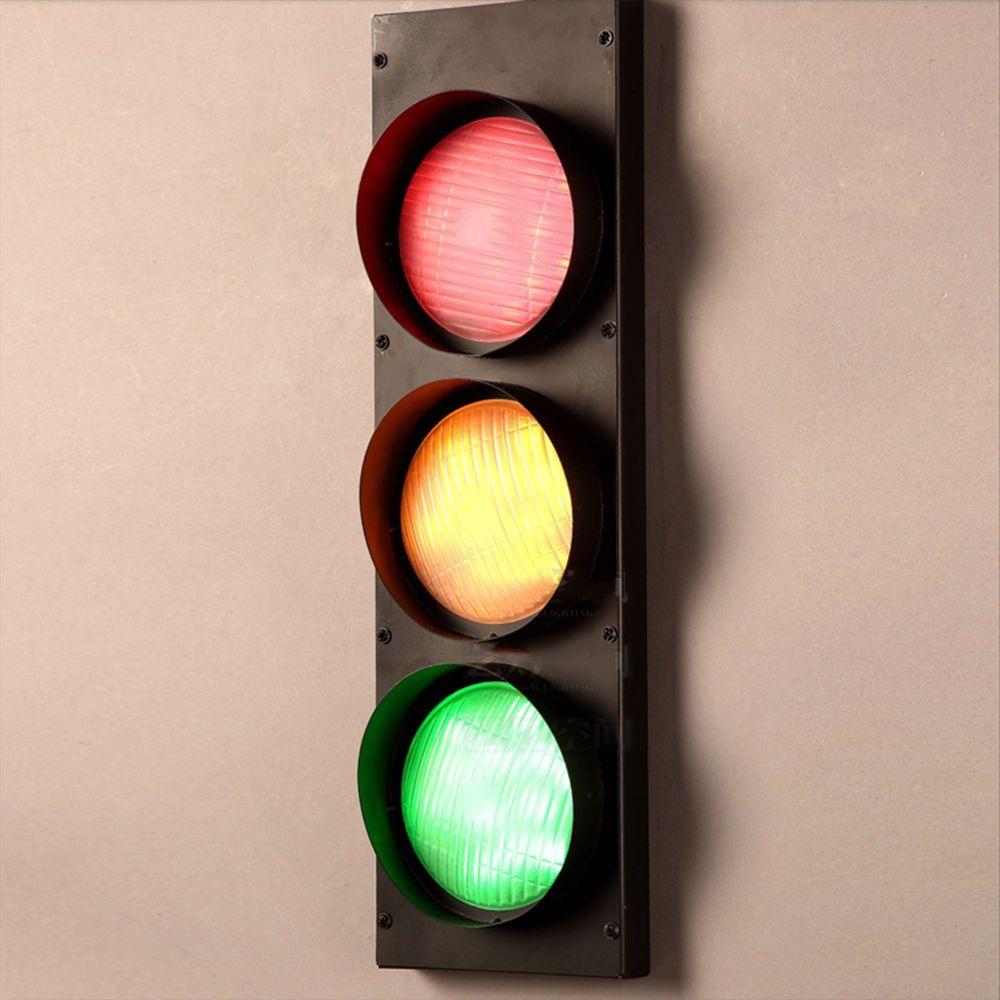 Modern Creative Home Decor Traffic Light Corridor Loft Wall Lamp