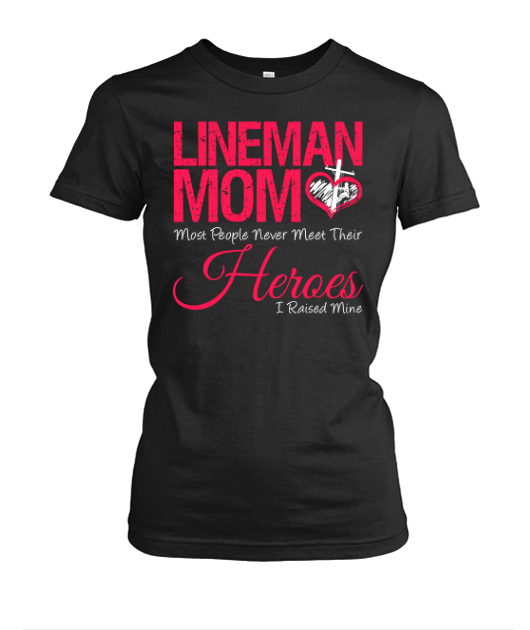 47ee9e1c4 Proud Lineman Mom Hero | Lineman love ⚡❤⚡ | Lineman shirts ...