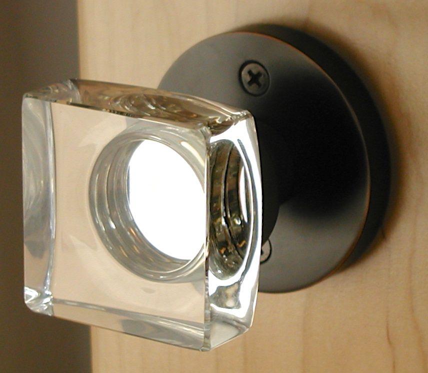 Square Crystal Door Knob