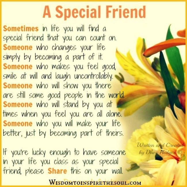 I Am So Blessed To Have A Special Friend Like You Xoxo