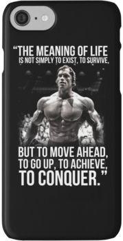 Arnold Schwarzenegger Arnie Conquer Quote Iphone Case By King84 Conquer Quotes Yoga Quotes Quote Iphone