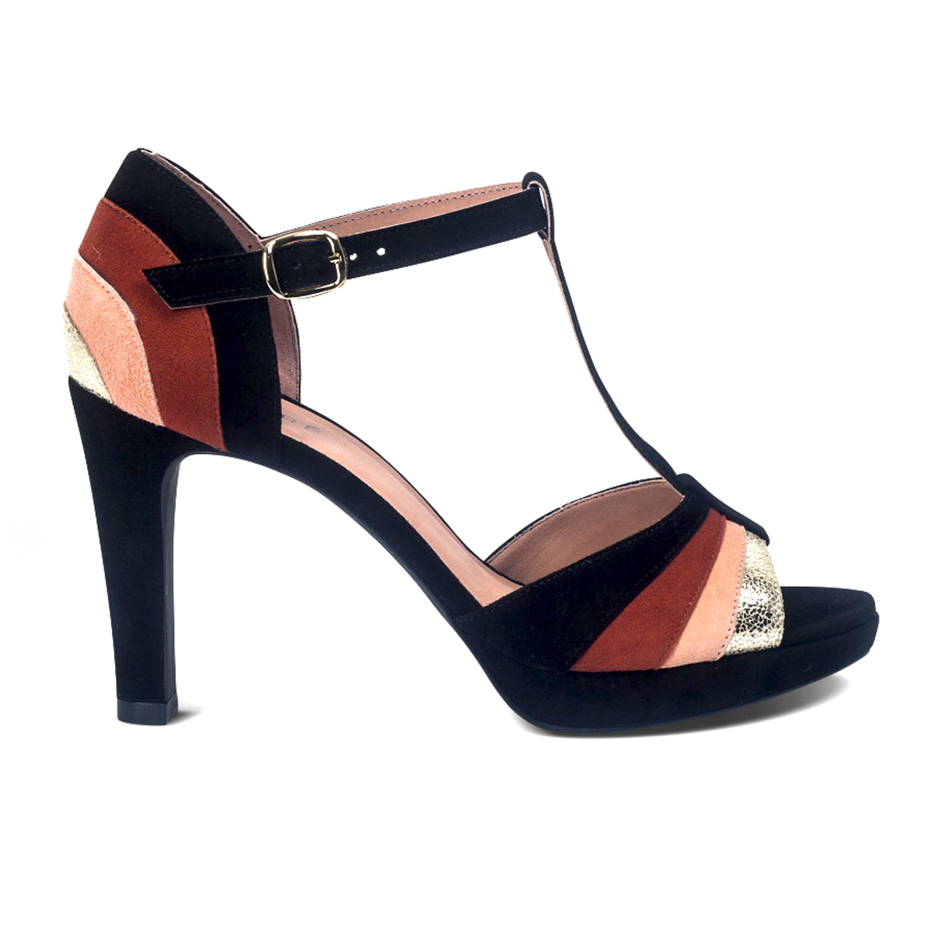 65f6582a8fe599 Sandale salomé modèle LATINE - Camille Daurel design pour André chaussures  - Collection été 2017