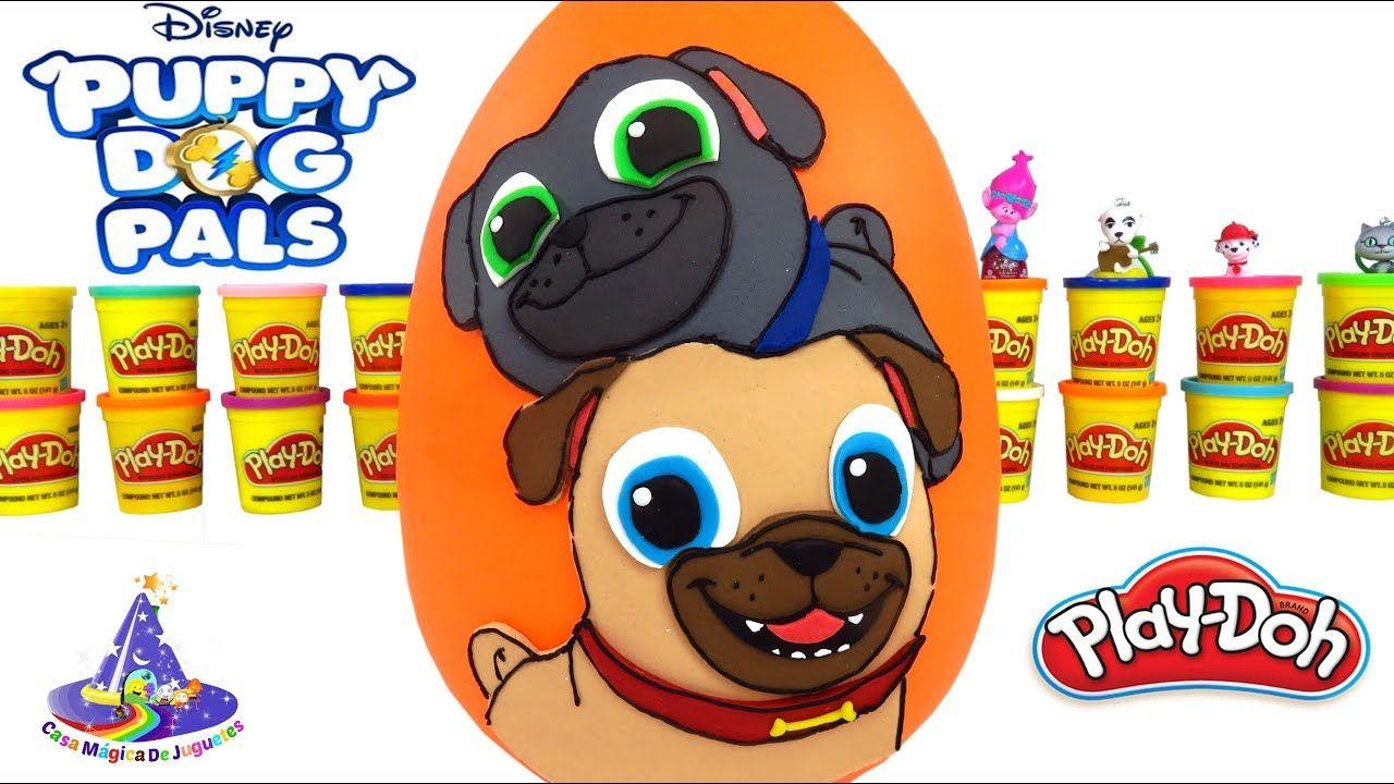 Huevo Sorpresa Gigante De Puppy Dog Pals De Plastilina Play Doh En Espan Play Doh Pasteles Para Ninos De Cumpleanos Huevo Sorpresa Gigante
