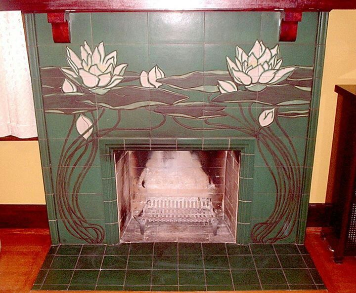 1902 - Rookwood Pottery - Tile Fireplace Surround - William P ...